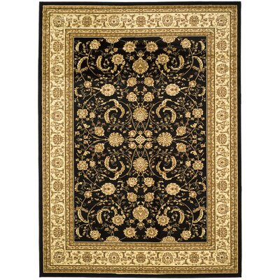 Ottis Black/Ivory Rug Rug Size: Rectangle 9 x 12