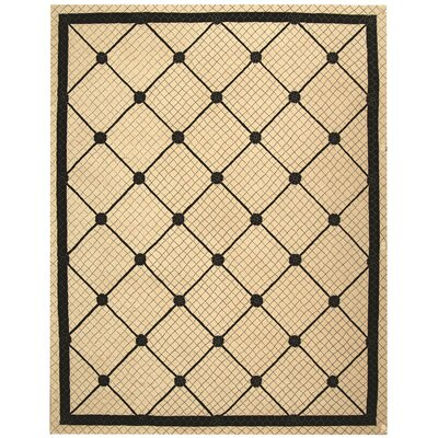 Parish Ivory/Black Geometric Area Rug Rug Size: Rectangle 86 x 116