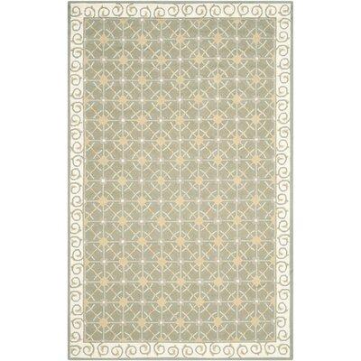 Parish Olive/Beige Area Rug Rug Size: 79 x 99