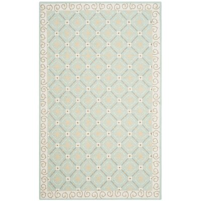 Parish Aquamarine / Beige Area Rug Rug Size: 56 x 86