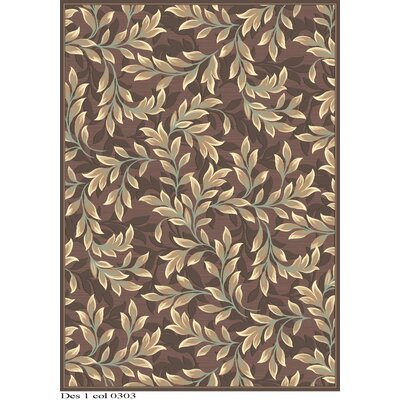 Patrick Light Brown Area Rug Rug Size: 53 x 76