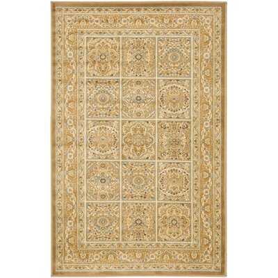 Patrick Dark Beige Area Rug Rug Size: Rectangle 53 x 76
