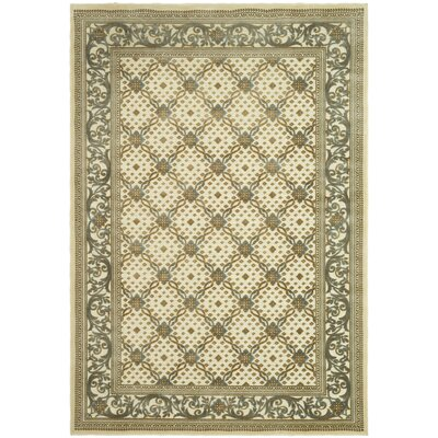 Patrick Dark Creme Area Rug Rug Size: Rectangle 53 x 76