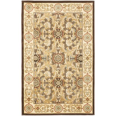 Patrick Dark Light Brown Oriental Rug Rug Size: Rectangle 5'3
