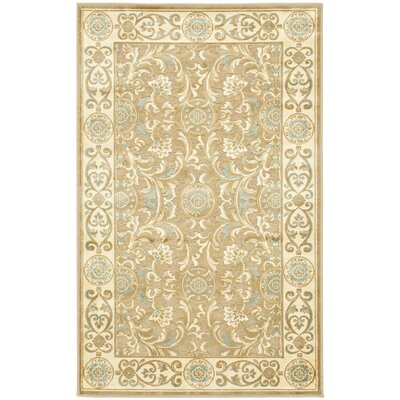 Patrick Beige Oriental Rug Rug Size: Rectangle 4 x 57