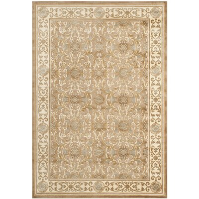 Patrick Beige Oriental Rug Rug Size: Rectangle 53 x 76