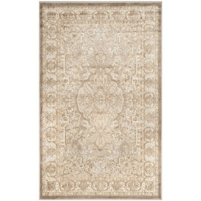 Patrick Mouse/Silver Area Rug Rug Size: 4' x 5'7