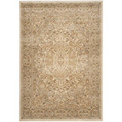 Patrick Stone/Cream Area Rug Rug Size: Rectangle 53 x 76
