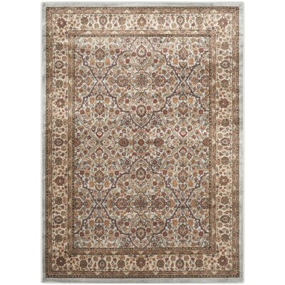 Petronella Light Blue/Ivory Area Rug Rug Size: Rectangle 4 x 57
