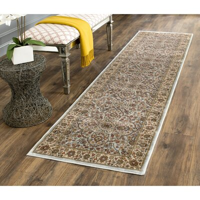 Petronella Light Blue/Ivory Area Rug Rug Size: Runner 22 x 8