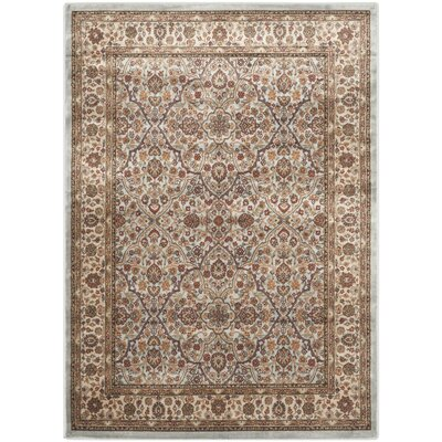 Petronella Light Blue/Ivory Area Rug Rug Size: Rectangle 51 x 77