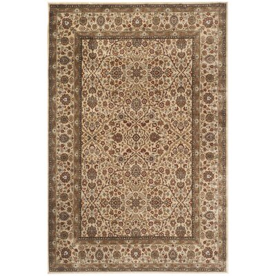 Petronella Ivory/Ivory Area Rug Rug Size: Rectangle 4 x 57