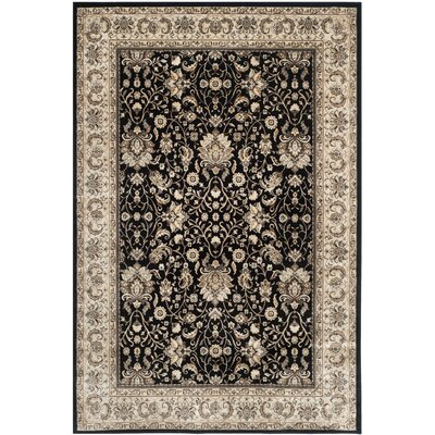 Petronella Black/Ivory Area Rug Rug Size: Rectangle 4 x 57