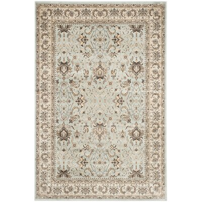 Petronella Light Blue/Ivory Area Rug Rug Size: Rectangle 8 x 11