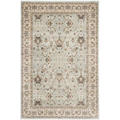 Petronella Light Blue/Ivory Area Rug Rug Size: 51 x 77