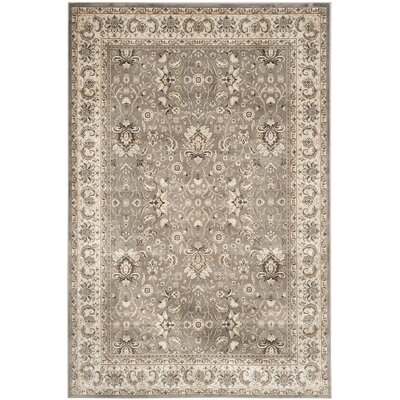 Petronella Gray/Ivory Area Rug Rug Size: Rectangle 4' x 5'7