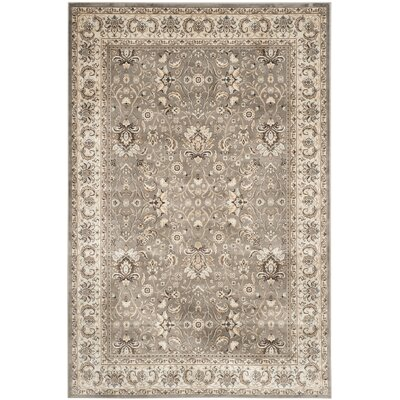 Petronella Gray/Ivory Area Rug Rug Size: 51 x 77