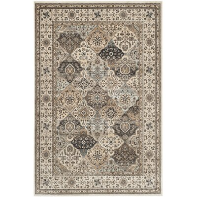 Petronella Ivory Area Rug Rug Size: 51 x 77