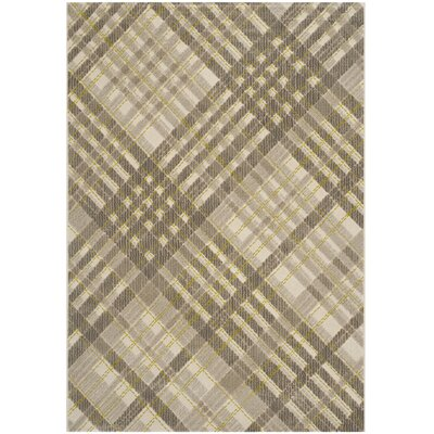 Philomena Grey / Dark Grey Plaid Rug Rug Size: 52 x 76
