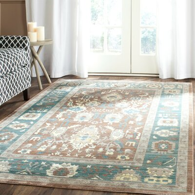 Regis Chocolate/Alpine Area Rug Rug Size: Rectangle 4 x 6