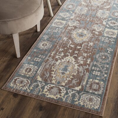 Regis Chocolate/Alpine Area Rug Rug Size: Runner 23 x 8