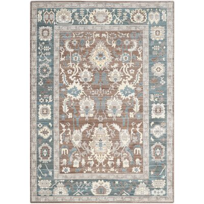 Regis Chocolate/Alpine Area Rug Rug Size: 5 x 8