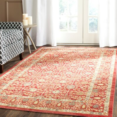 Regis Red Area Rug Rug Size: Rectangle 9 x 12