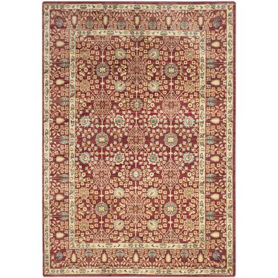 Regis Red Area Rug Rug Size: Rectangle 3 x 5