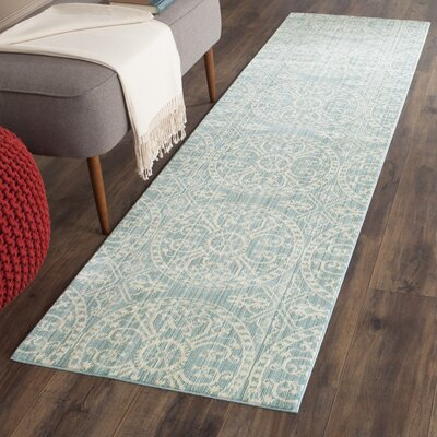 Regis Alpine/Cream Area Rug Rug Size: Runner 23 x 8