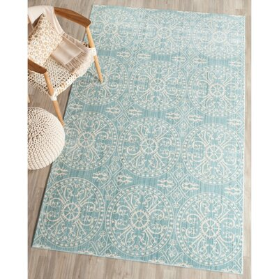 Regis Alpine/Cream Area Rug Rug Size: Rectangle 9 x 12