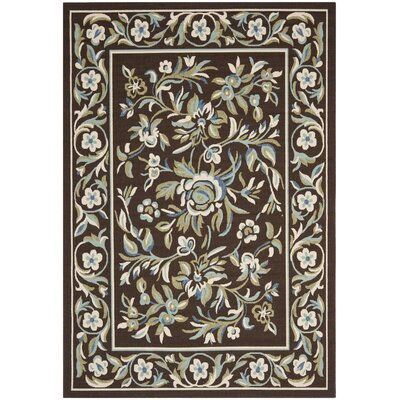 Rennie Chocolate/Aqua Indoor/Outdoor Area Rug Rug Size: Rectangle 4 x 57