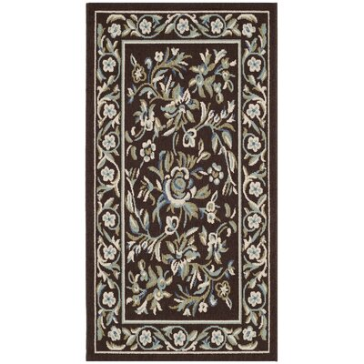 Rennie Chocolate/Aqua Indoor/Outdoor Area Rug Rug Size: Rectangle 27 x 5