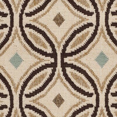 Rennie Cream / Chocolate Indoor/Outdoor Area Rug Rug Size: Rectangle 8 x 112