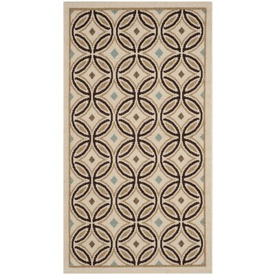 Rennie Cream / Chocolate Indoor/Outdoor Area Rug Rug Size: Rectangle 27 x 5