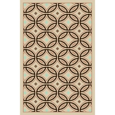 Rennie Cream / Chocolate Rug Rug Size: 4' x 5'7