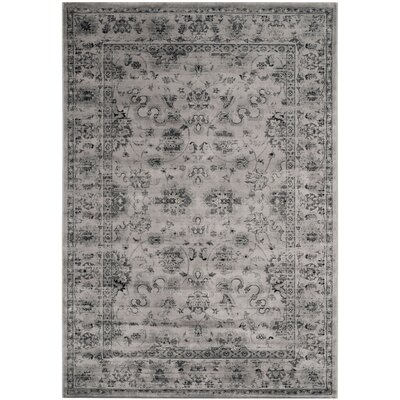 Rindge Gray/Ivory Area Rug Rug Size: Rectangle 8 x 11