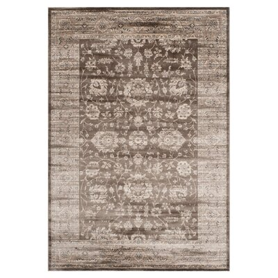 Rindge Brown/Ivory Area Rug Rug Size: Runner 22 x 12