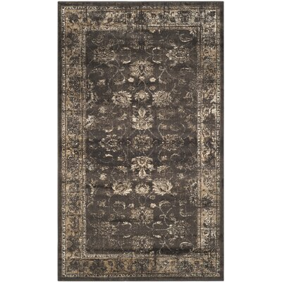 Rindge Soft Anthracite Area Rug Rug Size: 3'3