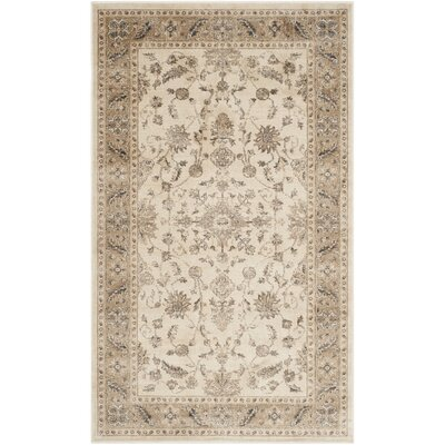 Rindge Stone / Caramel Oriental Rug Rug Size: Rectangle 4 x 57