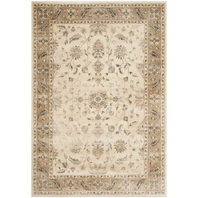 Rindge Stone / Caramel Oriental Rug Rug Size: Rectangle 53 x 76