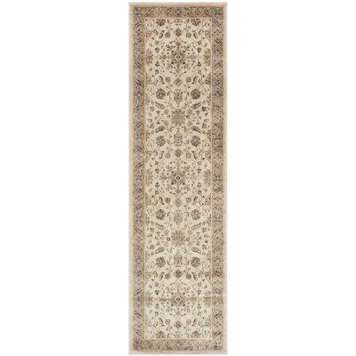 Rindge Stone / Caramel Oriental Rug Rug Size: Runner 22 x 8