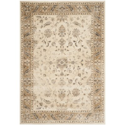 Rindge Stone / Caramel Oriental Rug Rug Size: 53 x 76