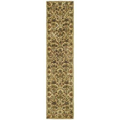 Dunbar Garden Panel Gold Area Rug Rug Size: Runner 23 x 12