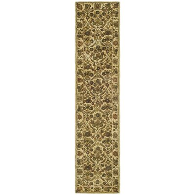 Dunbar Garden Panel Gold Area Rug Rug Size: Runner 23 x 8