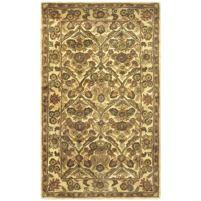 Dunbar Garden Panel Gold Area Rug Rug Size: 3 x 5