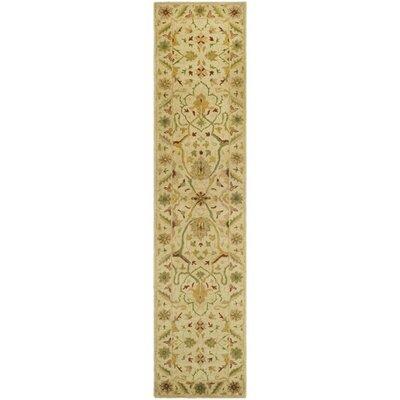 Dunbar Hand-Woven Wool Ivory Area Rug Rug Size: Runner 23 x 10