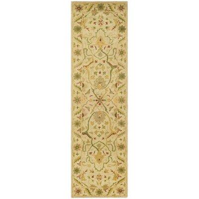 Dunbar Hand-Woven Wool Ivory Area Rug Rug Size: Runner 23 x 8