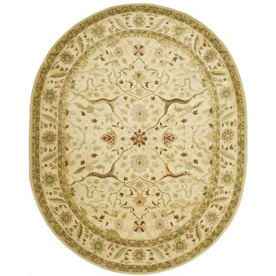 Dunbar Hand-Woven Wool Ivory Area Rug Rug Size: Rectangle 5 x 8