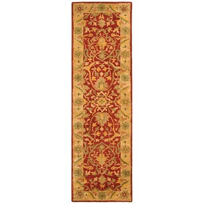 Parker Rust Area Rug Rug Size: Runner 23 x 8