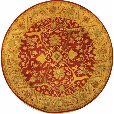 Parker Rust Area Rug Rug Size: Round 36
